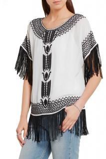 Alice & Olivia Fringed Top
