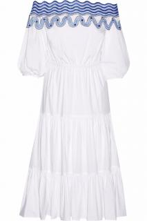 Peter Pilotto 'Pallas' Off-the-shoulder Embroidered Cotton-Blend Dress