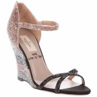 Valentino Embellished Wedge Sandals