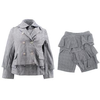 Comme des Garcons Check Jacket and Short Set