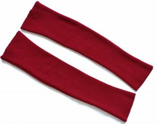 Wolford red wool blend ribbed arm warmers