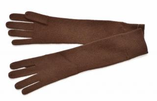 Ralph Lauren Black Label brown cashmere long gloves