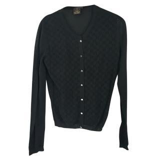 Louis Vuitton black cardigan Small