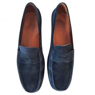TOD'S charcoal suede leather loafers