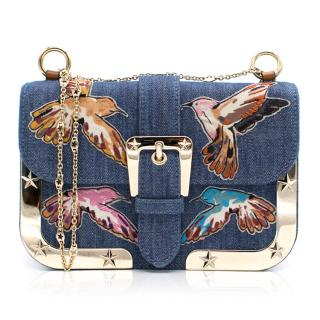 Red Valentino Denim Bird Bag