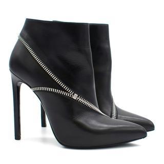 Saint Laurent Black Boots with Zips