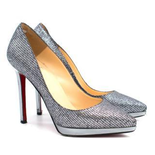 963c4acdc41 Christian Louboutin Grey Glitter Heels