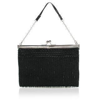 Prada Beaded Black Mini Bag
