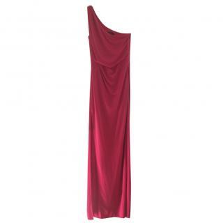 Bcbg Max Azria Red One Shoulder Dress