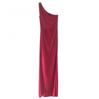 Bcbg Max Azria Red One Shoulder Dress