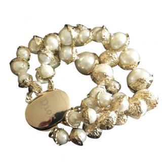 Dior gold metal bracelet