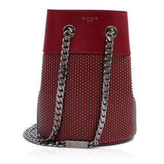 Elie Saab Paris Blood Red Bucket Bag