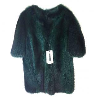 Nafa Raccoon Jacket In Green.