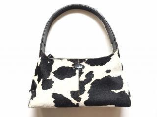 TOD'S cow print ponyhair shoulder bag