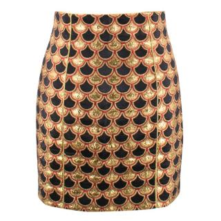 Balmain jacquard Skirt
