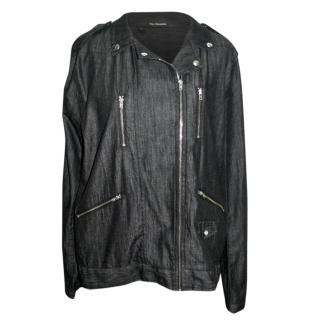 The Kooples Denim Zip Detail Jacket