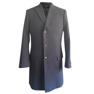 Dolce & Gabbana Sicilia Navy Wool Overcoat Crombie Medium