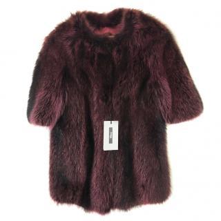 Nafa Raccoon Fur Jacket With 3/4 Sleeves