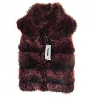 Raccoon Fur Sleeveless Jacket