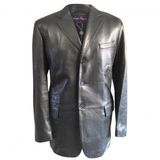Ralph Lauren Purple Label Lambs Leather Blazer Jacket