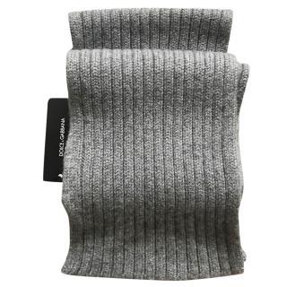 Dolce & gabbana grey cashmere scarf
