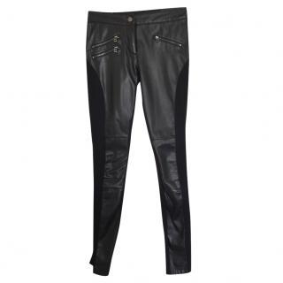 Bcbg Max Azria Black faux leather pants