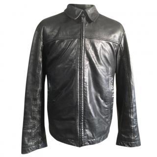 Hugo Boss Black Buffalo Nappa Leather Biker Jacket