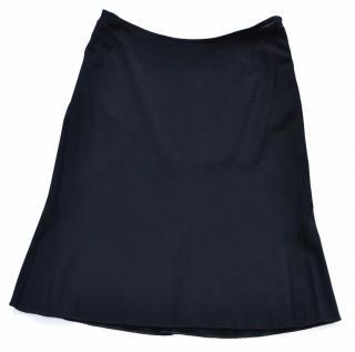 Alaia black stretch knit skirt