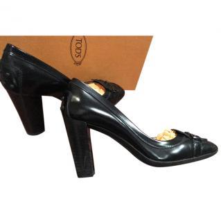 Tods Black Heels