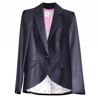 Emanuel Ungaro black silk & wool blend blazer