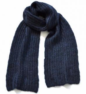 Marni navy alpaca wool blend scarf