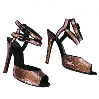 Gucci Sparkly Ankle Strap Heels