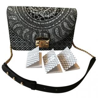 Furl Printed Leather Bag