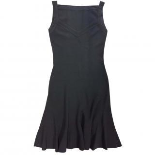 Azzedine Alaia black stretch knit dress S