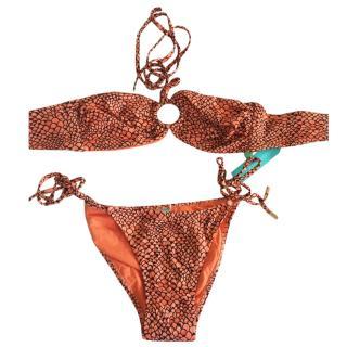 Melissa Odabash Orange Bandeau Bikini