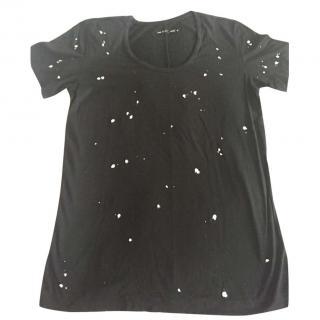 Rag & bone T-paint splatter shirt