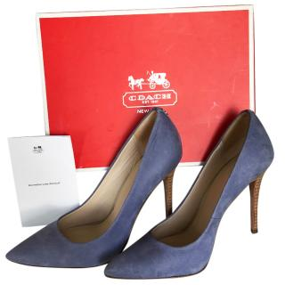 Coach Harlee Blue Pumps