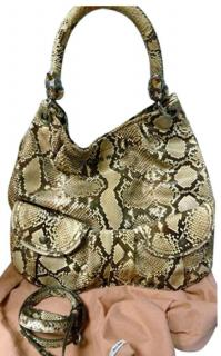 Miu Miu Phyton shoulder tote bag