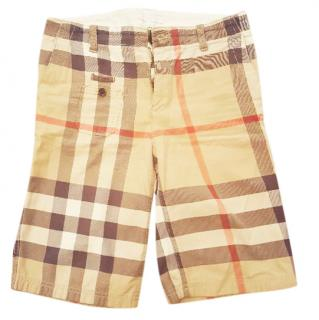 Burberry kid's cotton chino shorts