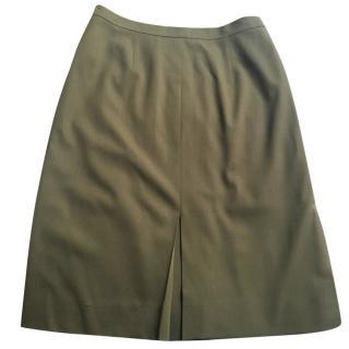 Christian Dior olive skirt size 12 or EU 40