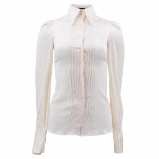 Julien Macdonald London Cream Silk Blouse