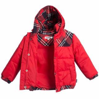 Junior Gaultier baby padded puffer jacket