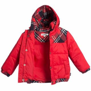 Junior Gaultier baby padded puffer jacket