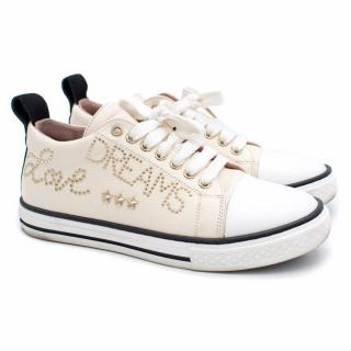 Red Valentino Cream Micro Stud Sneakers