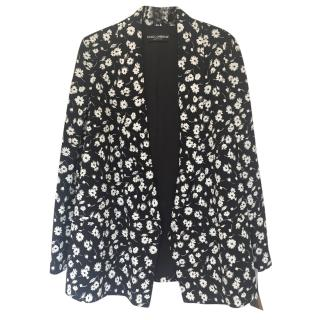 Dolce and Gabbana Silk floral Blazer