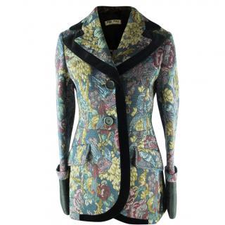 Miu Miu Brocade Printed Velvet Jacket