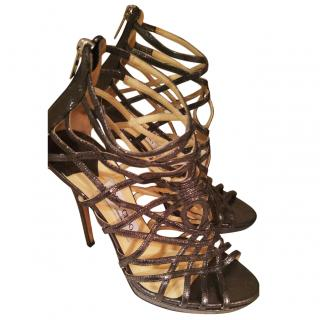 Jimmy Choo Strappy Metallic Leather Sandal