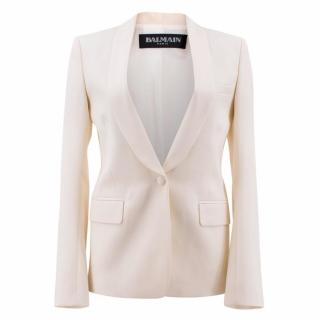 Balmain Cream Wool Blazer
