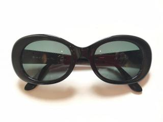 CHRISTIAN DIOR black sunglasses gold logo temples
