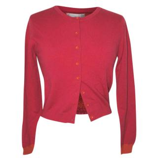 BRORA cashmere cardigan, red/orange